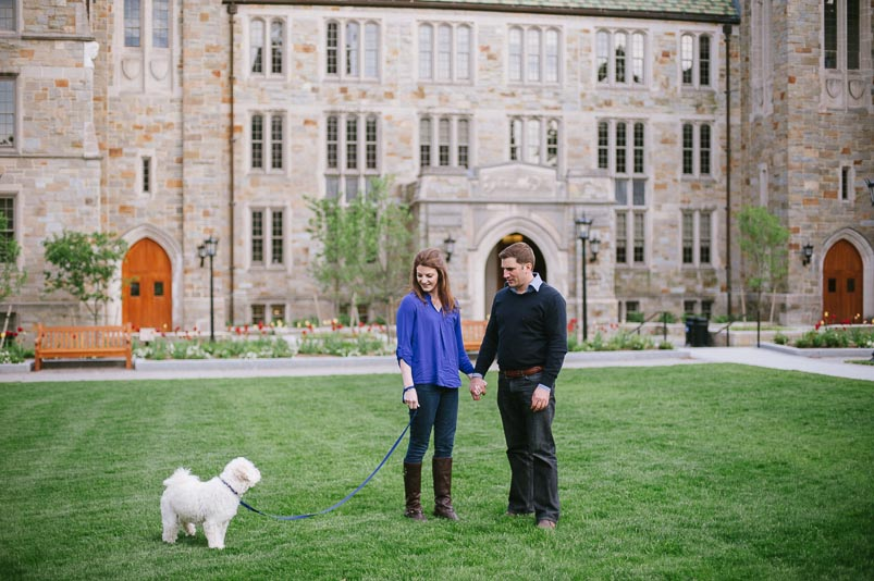 Alyssa Terence Boston College Engagement Session